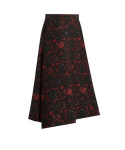 Y'S BY YOHJI YAMAMOTO | Floral-Jacquard A-Line Skirt