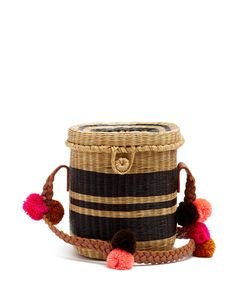 Sophie Anderson | Flores Striped Wicker Shoulder Bag