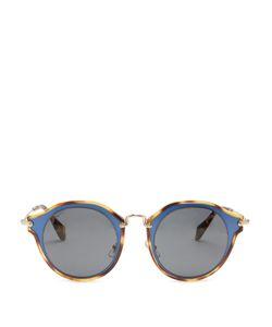 Miu Miu | Bi-Colour Round-Frame Sunglasses