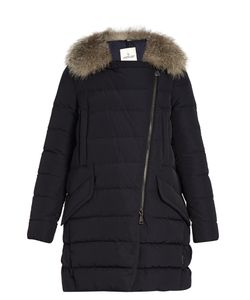 Moncler | Metrodora Fur-Trimmed Quilted-Down Coat