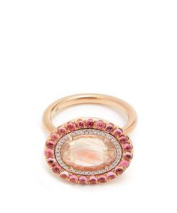 IRENE NEUWIRTH | Diamond Sunstone Tourmaline Rose Ring