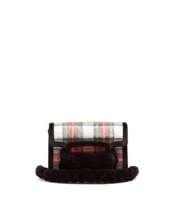 Miu Miu | Braid-Embellished Tartan Cross-Body Bag