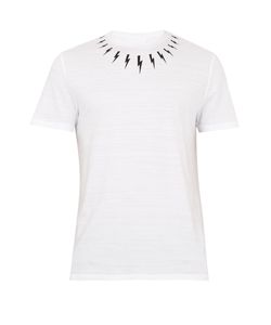 Neil Barrett | Lightning-Bolt Print Cotton-Jersey T-Shirt