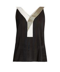 ZEUS + DIONE | Niobe Geometric-Jacquard Silk-Blend Top