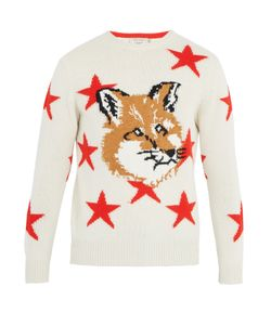 Maison Kitsune | Star And Fox-Intarsia Wool Sweater