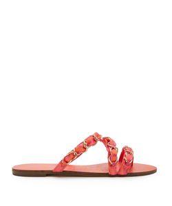 Sophia Webster   Taya Chain-Embellished Satin Sandals