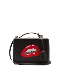 Mark Cross | Grace Small Lips-Embellished Leather Box Bag