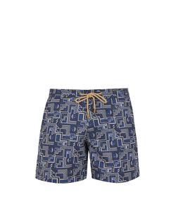 THORSUN | Titan-Fit Puzzle-Print Swim Shorts
