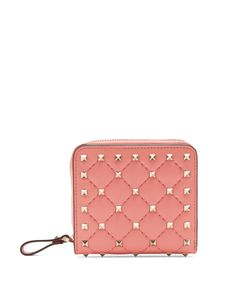 Valentino | Rockstud Spike Quilted-Leather Wallet