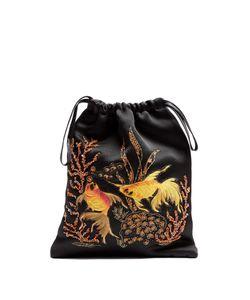 ATTICO   Sofia Fantasy Fish Embroidered Satin Pouch
