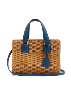 Mark Cross | Manray Small Rattan And Leather Tote