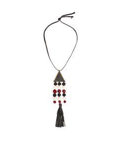 ZEUS + DIONE   Nefeli Leather And Silk Necklace