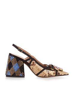 Marni | Crystal-Embellished Block-Heel Pumps