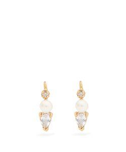 LOREN STEWART | Diamond Topaz Pearl Earrings