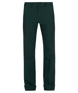 Prada | Wide-Leg Twill Trousers