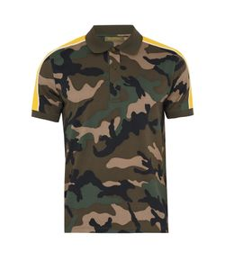 Valentino | Camouflage-Print Cotton Polo Shirt