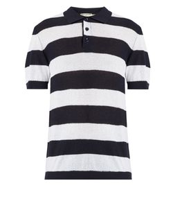 Éditions M.R | Riviera Striped Fine-Knit Polo Shirt