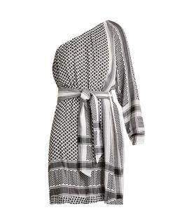 CECILIE COPENHAGEN | One-Shoulder Scarf-Jacquard Cotton Dress