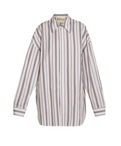 A.W.A.K.E. | Oversized Striped Cotton Shirtdress