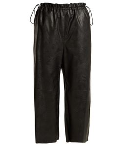 MM6 by Maison Margiela | Drawstring-Waist Faux-Leather Cropped Trousers