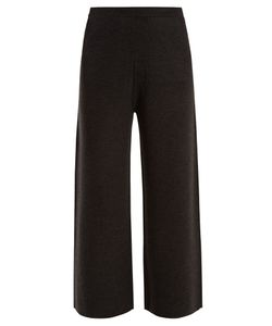 Allude | Wide-Leg Wool Culottes