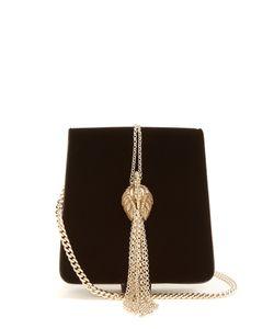 Lanvin | Discret Swan-Embellished Velvet Bag