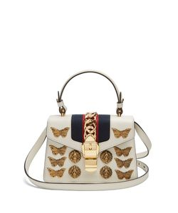 Gucci | Sylvie Mini Embellished Shoulder Bag