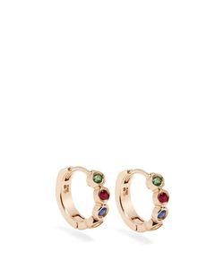 ALISON LOU | Sapphire Ruby Emerald Twister Earrings
