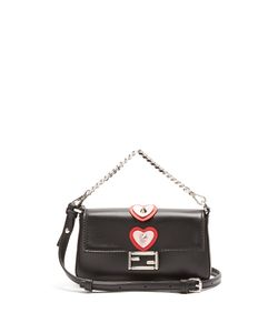 Fendi | Micro Baguette Heart-Appliqué Cross-Body Bag