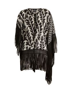 Andrew Gn | -Print Fringed Hem Asymmetric Silk-Blend Top