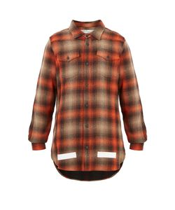OFF-WHITE | Checked Cotton-Blend Shirt