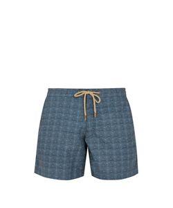 THORSUN | Titan-Fit Triangle-Print Swim Shorts