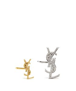 Saint Laurent | Set Of Two Monogram Ear Cuffs