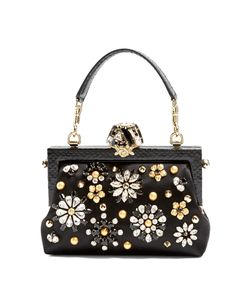 Dolce & Gabbana | Vanda Crystal-Embellished Satin Bag
