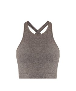 Skin   Thea Ribbed Stretch-Cotton Cropped Top