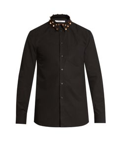 Givenchy | Cuban-Fit Studded-Collar Cotton Shirt