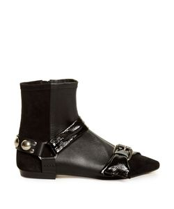 Isabel Marant | Reida Patent-Leather And Suede Ankle Boots