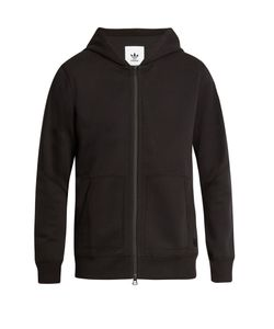 ADIDAS ORIGINALS BY WINGS + HORNS | Zip-Through Bonded Cotton-Jersey Hooded Sweatshirt