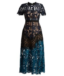 SELF-PORTRAIT | Prairie Lace Midi Dress