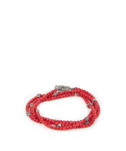 M COHEN | Glass-Bead And Silver Bracelet