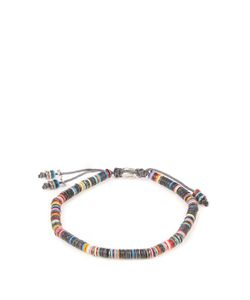 M COHEN | African Vinyl Disc-Bead And Silver Bracelet
