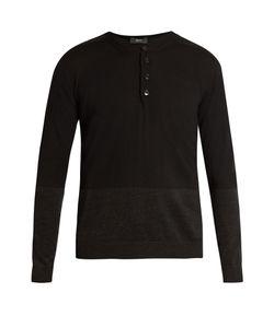 HELBERS | Long-Sleeved Wool Henley Top