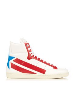 Saint Laurent | Star-Panelled High-Top Leather Trainers