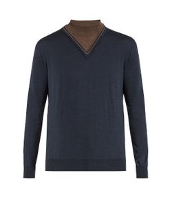ORLEY | Dickie Stand-Collar Wool Sweater