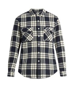 Tomorrowland | Checked Cotton-Flannel Shirt