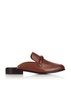Newbark   Melanie Lizard-Effect Leather Loafers