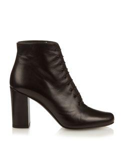 Saint Laurent | Babies Lace-Up Leather Ankle Boots