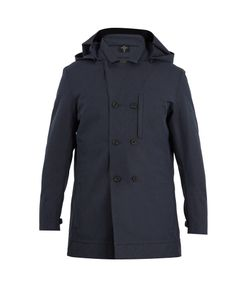 NORWEGIAN RAIN | Caban Double-Breasted Technical-Fabric Coat