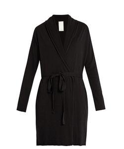 Skin   Double-Layer Pima Cotton-Jersey Wrap Robe