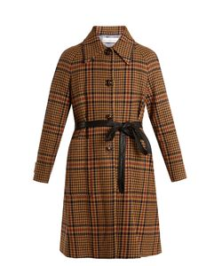 Golden Goose | Audrey Single-Breasted Checked Wool-Blend Coat
